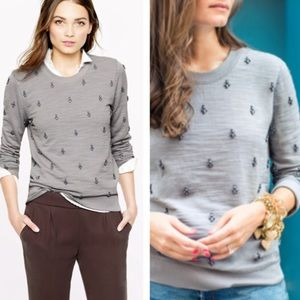 J crew embellished sweater with jewels